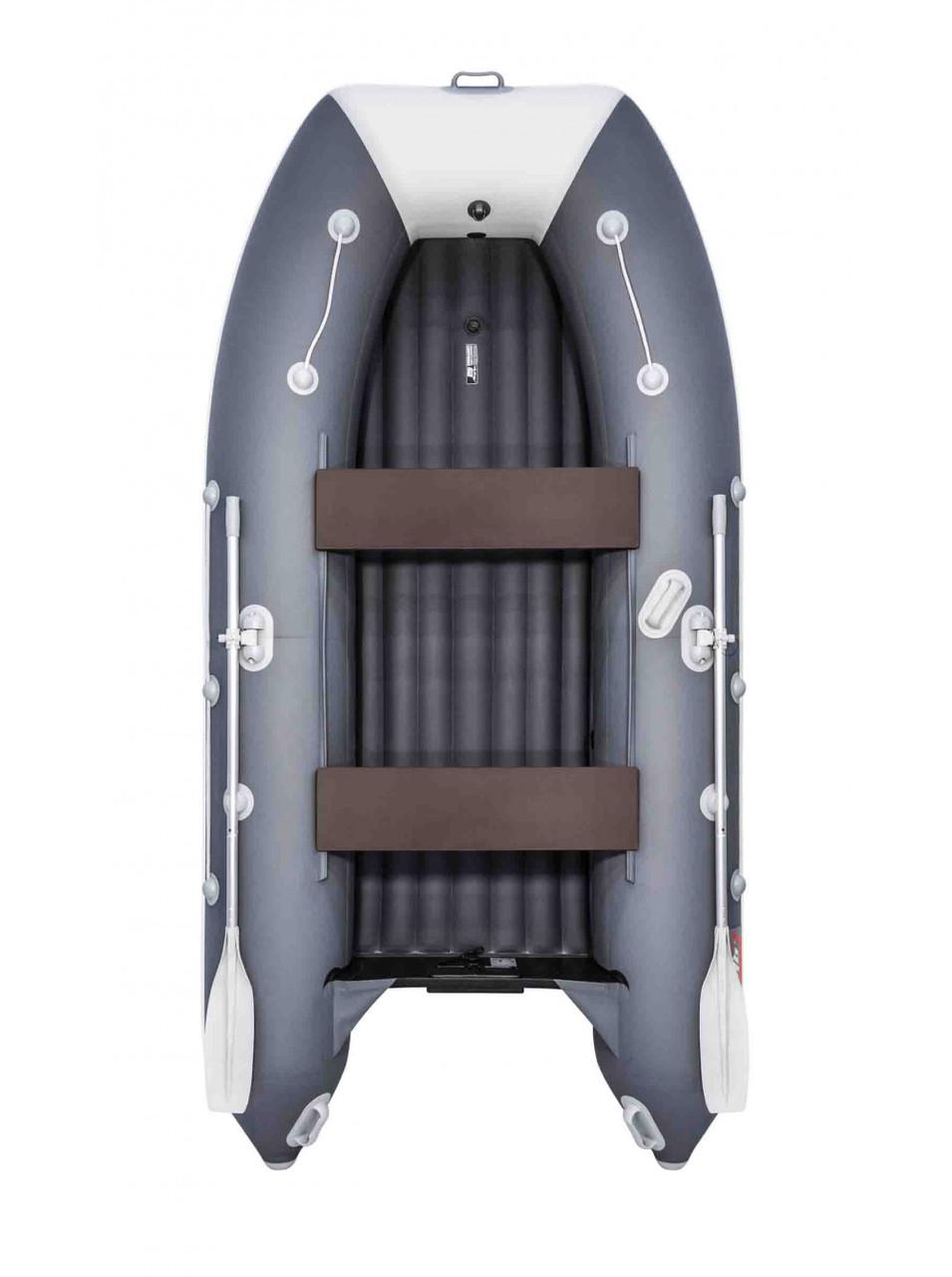 Лодка Таймень LX 3400 НДНД графит/светло-серый