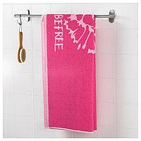 УРСКОГ Банное полотенце, лев, розовый, 70x140 см