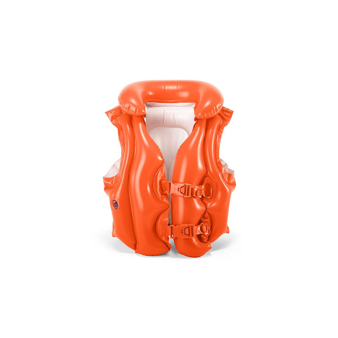 Жилет для плавания INTEX DELUXE 3+ 58671NP (50х47см, Винил, Трехкамерный)