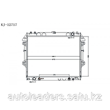 Радиатор охлаждения  2,7 Hilux 2005-2011
