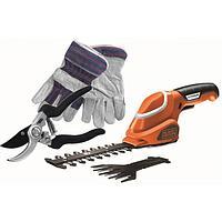 B&D, GSL700KIT, Садовые ножницы - кусторез 7 В Li-Ion, перчатки, ручные ножницы GSL700KIT B&D