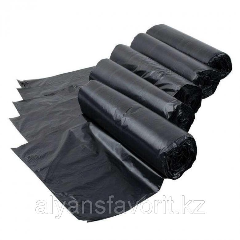 Пакет для мусора черный на 120 литров 40.6(19.7+19.7)*107,5*15 мкр.РК