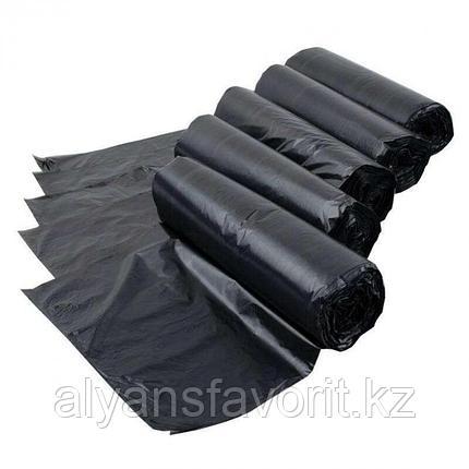 Пакет для мусора черный на 120 литров 40.6(19.7+19.7)*107,5*15 мкр.РК, фото 2