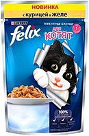 Felix кусочки в желе для котят с курицей