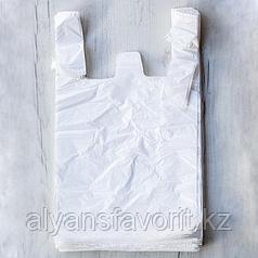 Пакет майка. размер 30*50 см. цвет белый.РК
