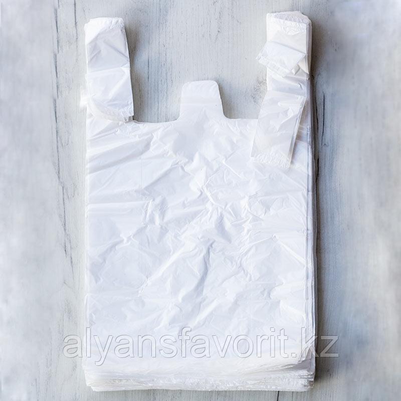 Пакет майка, размер: 30 *50 см.цвет белый.РК