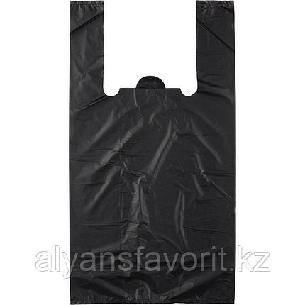 Пакет майка, размер: 30*50 см.цвет черный.РК, фото 2