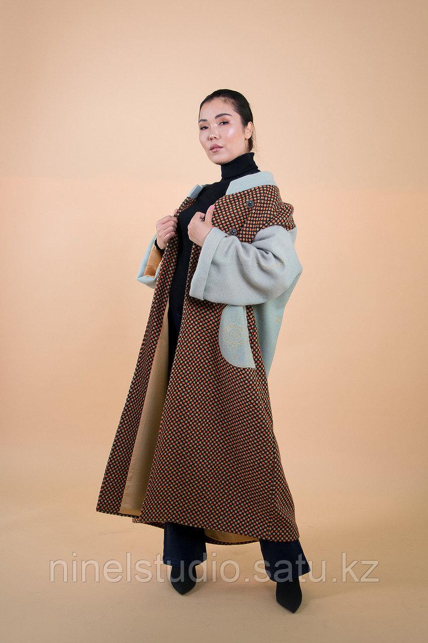 """Пальто женское дизайнерское """"Глаз шивы"""" - фото 1"""