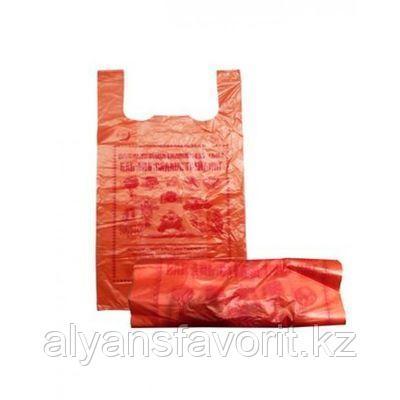 Пакет майка,размер: 45*70 см. цвет: оранжевый. РК, фото 2