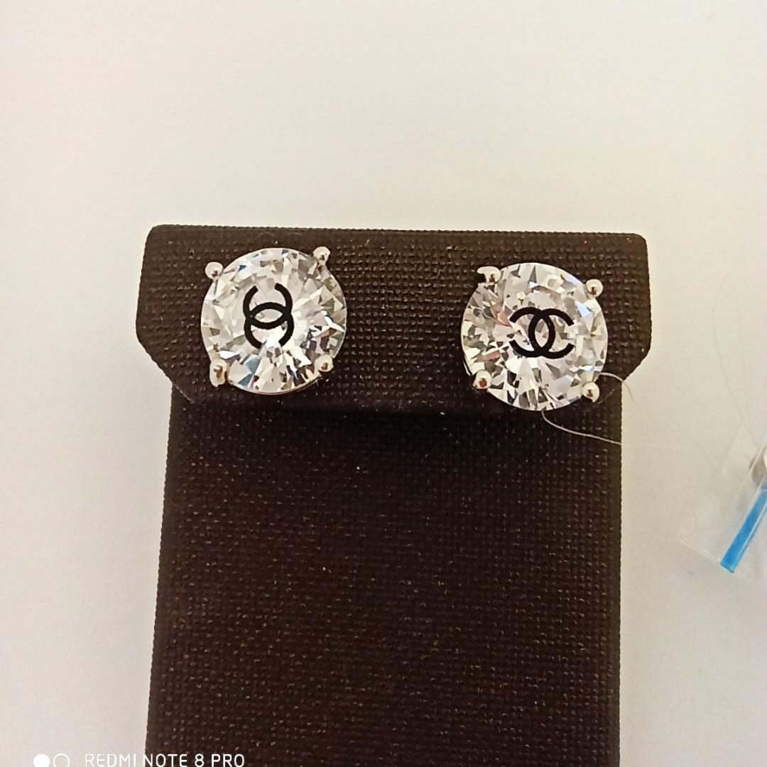 Пусеты «Chanel » / бижутерия