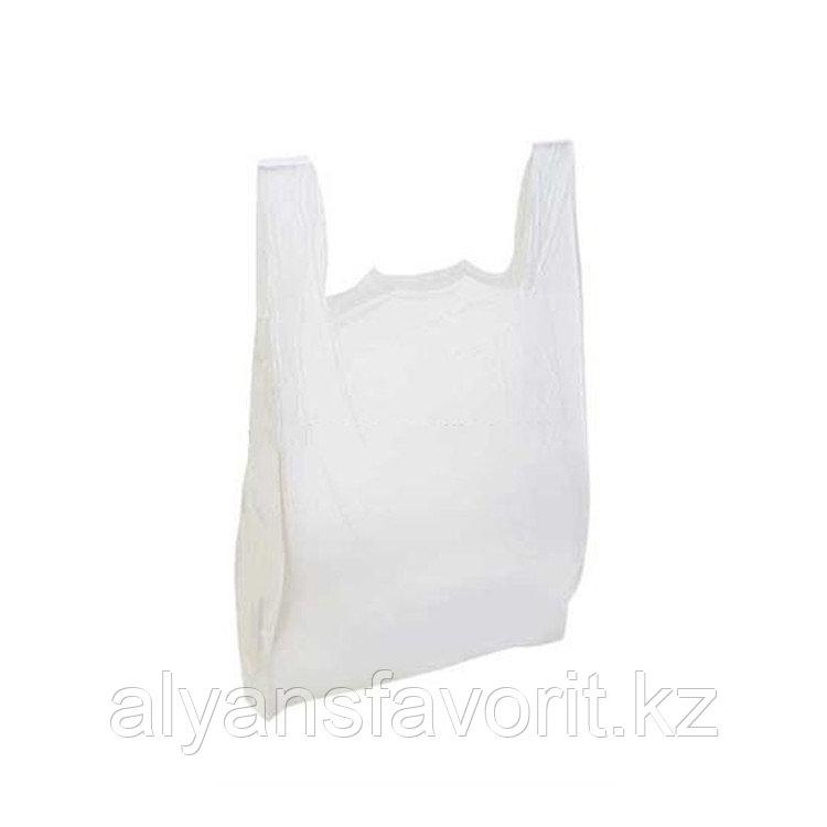 Пакет майка -размер: 45*70 см. цвет белый. РК
