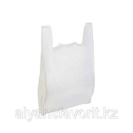 Пакет майка -размер: 45*70 см. цвет белый. РК, фото 2