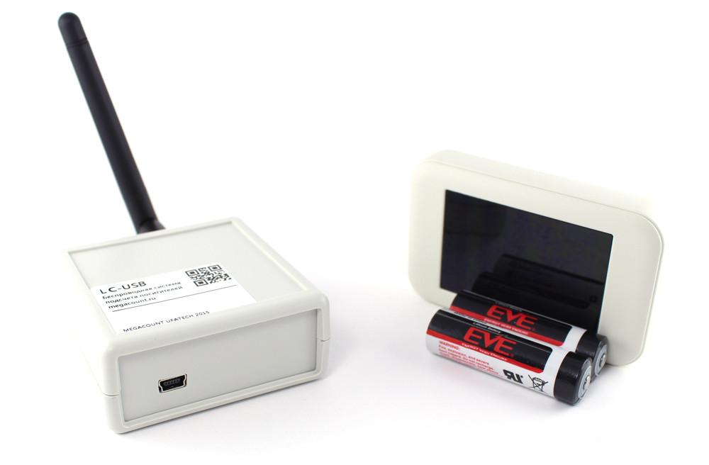 Беспроводные счетчики посетителей серия R-COUNT RL-USB графит на 1 проход