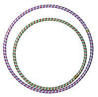 Обруч цветные полоски б (68см диаметр)