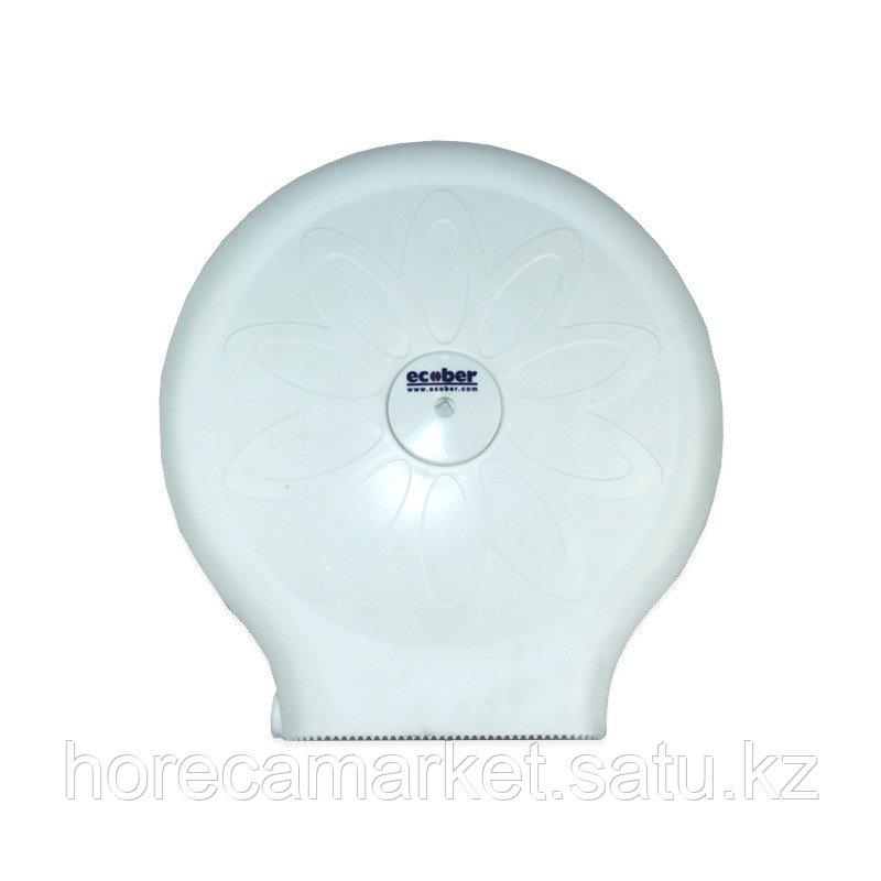 Диспенсер для туалетной бумаги Джумбо белый 1305-b