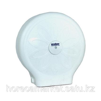 Диспенсер для туалетной бумаги Джумбо белый 1305-b, фото 2