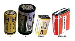 Батарейки С, D, Крона, CR