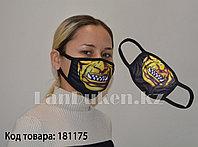Многоразовая маска с защитой от холода и пыли Желтая челюсть