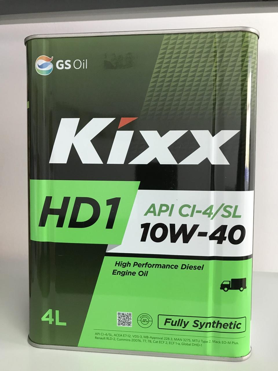 KIXX HD1 10W-40 синтетическое дизельное масло 4л.