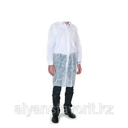 Халат процедурный, белый, рукава на резинке, размер XL, фото 2