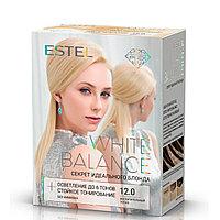 """Набор для окрашивания волос Estel White Balance Секрет идеального блонда Тон 12.0 """"Непревзойденный топаз"""""""