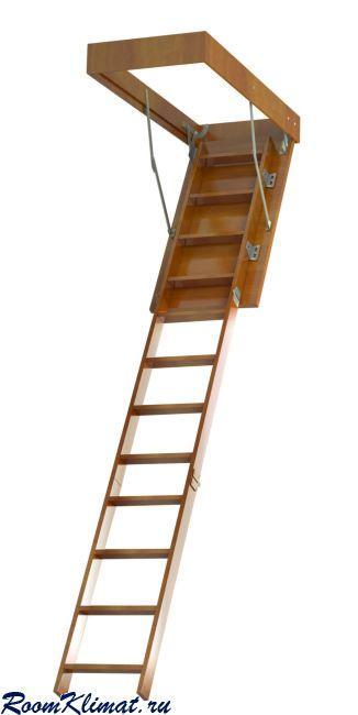 Деревянная чердачная лестница встраиваемая в потолок ЧЛ-1