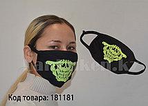 Многоразовая маска с защитой от холода и пыли фосфорная Челюсть скелета