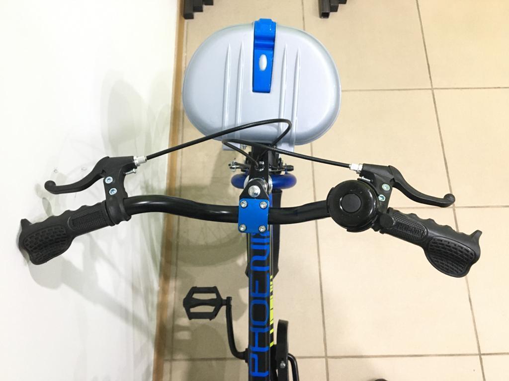 Велосипед Phoenix на 3-4 года с холостым ходом рама 14 (цвет-синий) - фото 3