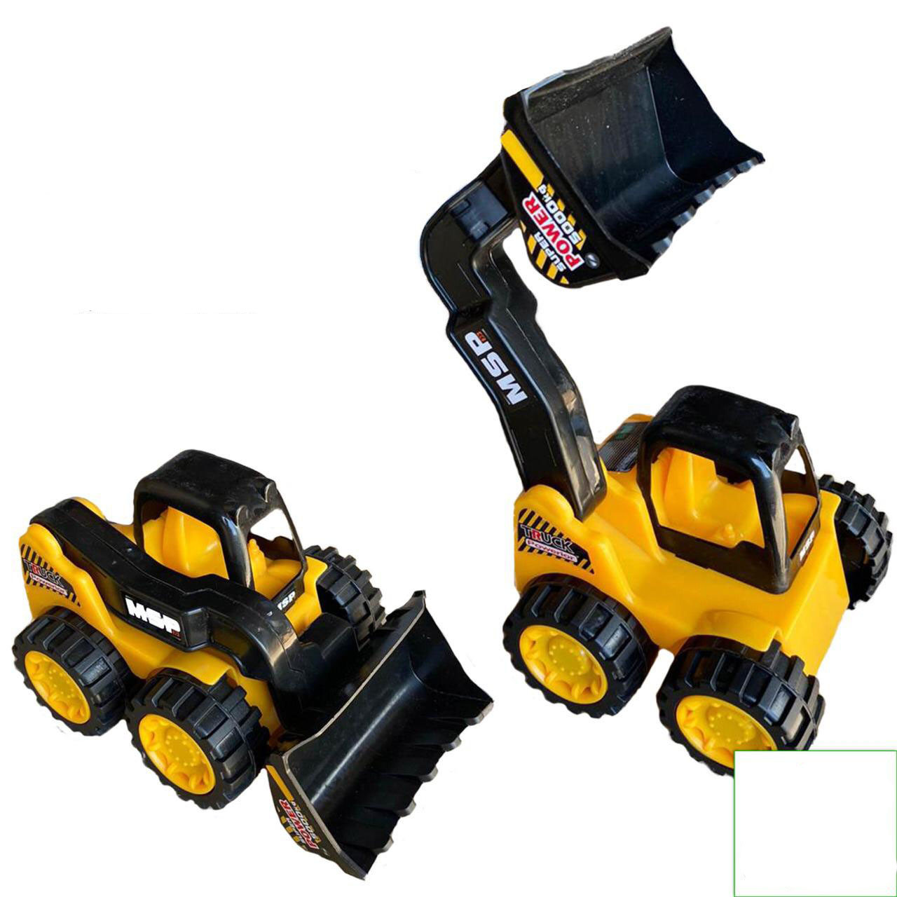 0016 Бульдозер-экскаватор 17*12см