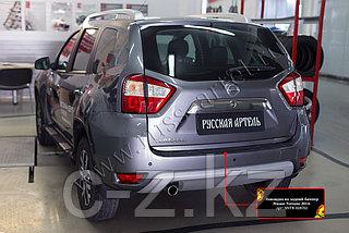 Защита заднего бампера Nissan Terrano 2014- н.в.