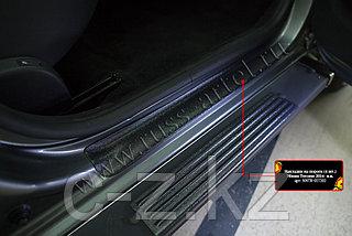 Накладки на внутренние пороги дверей Nissan Terrano 2014- н.в.