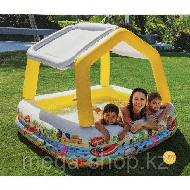 Детский семейный бассейн  intex 57470 157*157cм  со сьемной крышей