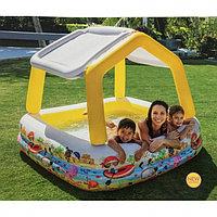 Детский семейный бассейн  intex 57470 157*157cм  со сьемной крышей, фото 1