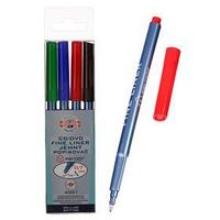 Набор маркеров перманентных для CD/DVD 4 цвета, 0,7 мм Koh-i-noor 4001/4