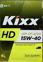 KIXX HD 15W-40 CF-4 дизельное масло 4л., фото 1