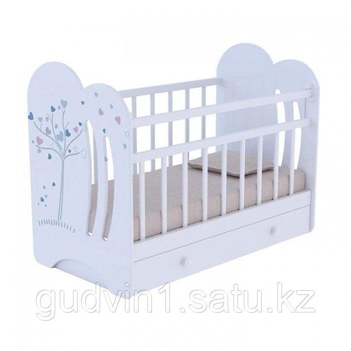Детская кроватка ВДК Wind tree фигурные спинки с ящиком маятник поперечный