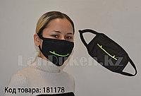 Многоразовая маска с защитой от холода и пыли фосфорная Улыбка