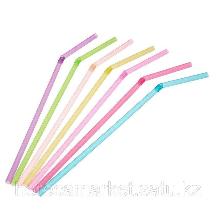 Трубочки d5x24 цветные с гофрой (500шт)