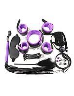 Фетиш набор Sexy Bondage Black/Purple (10)