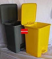 Контейнеры урны 20л с педальным механизмом для сбора медицинских отходов Желтый/Серый