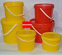 Контейнер 20л для сбора органических, биологических, жидких отходов Желтый/Красный