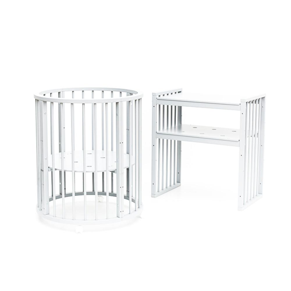 Кроватка Bambini детская овальная М 01.10.14 (Кроватка  детская Bambini овальная М 01.10.14 Белый)