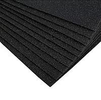 Глиттерный фоамиран Черный 2мм 40*60 см