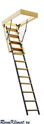 Комбинированная чердачная лестница встраиваемая в потолок ЧЛ-3