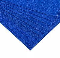 Глиттерный фоамиран Синий 2мм 40*60 см