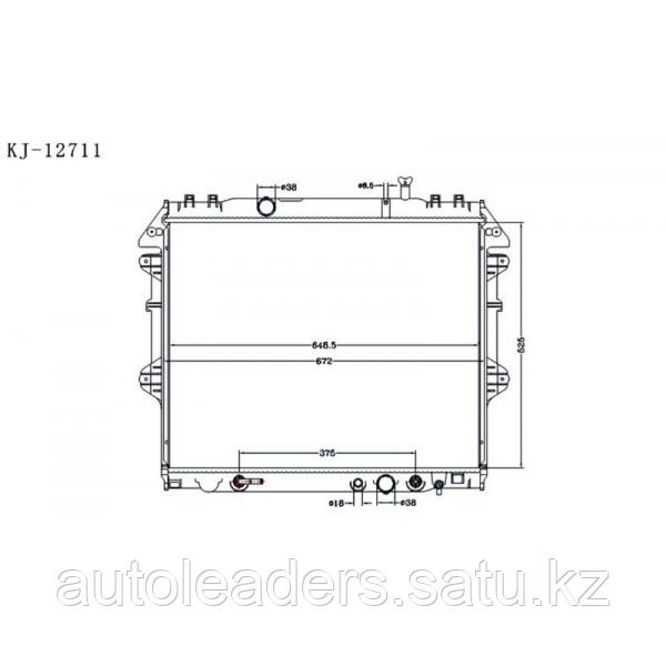 Радиатор охлаждения дизель 3,0 на Hilux 2011-2014