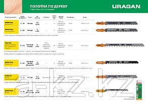 Полотна URAGAN, T244D, HCS, по дереву, фанере, ДСП, быстрый фигурный рез, T-хвост, шаг 4мм, 100/75мм, 2шт, фото 2
