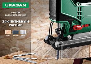 Полотна URAGAN, T244D, HCS, по дереву, фанере, ДСП, быстрый фигурный рез, T-хвост, шаг 4мм, 100/75мм, 2шт, фото 3