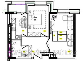 2 комнатная квартира в ЖК Athletic 59.33 м²