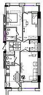 3 комнатная квартира в ЖК Athletic 77.05 м², фото 1